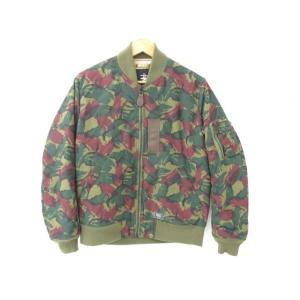 《メンズアウター》STUSSY ステューシー カモ柄 リバーシブル ジャケット ブルゾン MA-1 SIZE:L【中古】|thrift-webshop