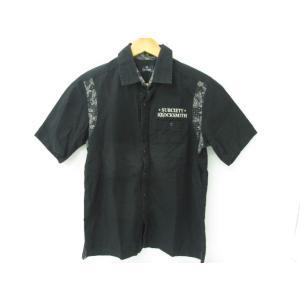 《メンズトップス》Subciety サブサエティ ペーズリー 切り替え 半袖ワークシャツ SIZE:M【中古】 thrift-webshop