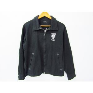 《メンズアウター》Subciety サブサエティ チェーンステッチ 刺繍 ワークジャケット SIZE:M【中古】 thrift-webshop
