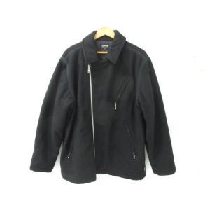 《メンズアウター》STUSSY ステューシー ウール ライダースジャケット SIZE:L【中古】|thrift-webshop