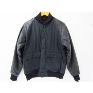 《メンズアウター》STUSSY DELUXE × maiden noir レザー切り替えスタジャン SIZE:M 中古|thrift-webshop