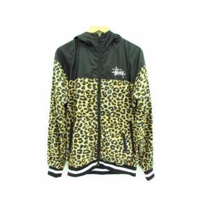 《メンズアウター》Stussy ステューシー レオパード柄 切替 ナイロン フードジャケット SIZE:M|thrift-webshop