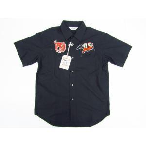 CALEE キャリー S/S TYPEWRITER WESTERN SHIRT ウエスタンシャツ CL-16S055 半袖 SIZE:M thrift-webshop