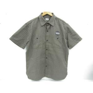 TENDERLOIN テンダーロイン ワークシャツ ストライプ ワッペン 半袖 SIZE:L|thrift-webshop
