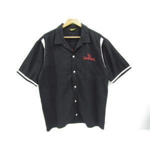 TENDERLOIN テンダーロイン 半袖 ボーリングシャツ チェーン刺繍 SIZE:L|thrift-webshop