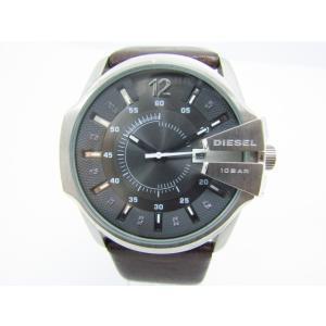 DIESEL ディーゼル DZ-1206 クォーツ腕時計 レザーベルト♪AC13715