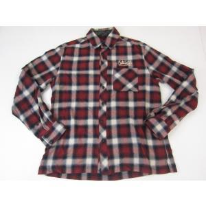 《メンズトップス》Subciety サブサエティー 刺繍入り ネルシャツ SIZE:M メンズ ストリート系 衣類 中古 thrift-webshop