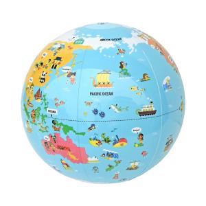 タイガートライブ ビーチボール地球儀 世界探検 30cm