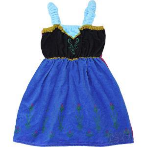 キッズバスドレス アナと雪の女王 エルサ プチドレス 110cm  (ラッピング不可) 673647 巻きタオル|thrive