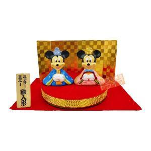 ディズニー ミッキー&ミニー 丸台 雛人形 二人飾り 親王飾り 雛人形 ひな人形 183017|thrive