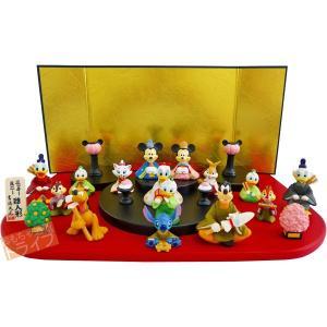 ディズニー 段飾り 15人セット 十五人飾り 雛人形 ひな人形 183118 おしゃれ コンパクト|thrive
