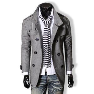 Pコート ピーコート メンズ 大きいサイズ アウター 秋 冬 春 ビジネス フォーマル 黒 グレー