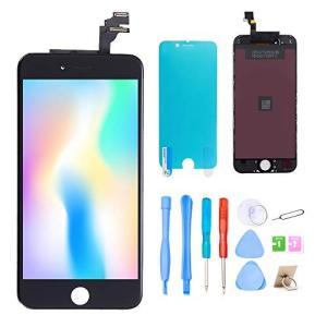 Srinea iPhone6 タッチパネル 画面修理 (ブラック)、デジタイザ と 修理工具セット付属、フロントパネル iPhone6 用