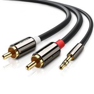 3.5mm → 2RCA ステレオオーディオケーブルは、MP3プレーヤー、スマートフォン、タブレット...