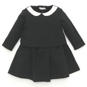 cc92cd6b4df7da ミアメール mia mail ブラックフォーマル 白襟付き ワンピースドレス 女の子 喪服