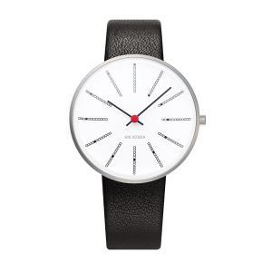 Arne Jacobsen アルネ ヤコブセン Bankers バンカーズ 34mm 【国内正規品】 腕時計 53101-1601 【送料無料】【代引き手数料無料】|tictac