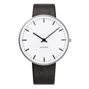 Arne Jacobsen アルネ ヤコブセン City Hall シティホール 40mm 【国内正規品】 腕時計 53202-2001 【送料無料】【代引き手数料無料】|tictac