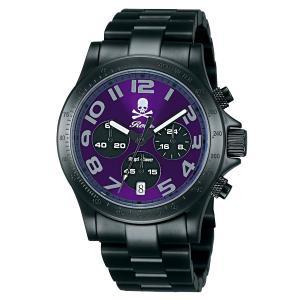 Angel Clover エンジェルクローバー ロエン Roen X Angel Clover コラボモデル 500本限定 ブラック メンズ 腕時計 BM41ROGM|tictac