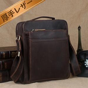 潮牛 送料無料 2WAY イタリア復古風 本革 レザー メンズ ショルダーバッグ 斜め掛けバッグ 手提げバッグ iPad対応 鞄 アウトドア|tidingleather