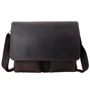 今季新作のビンテージ風天然牛革ショルダーバッグのご紹介です。贅沢な厚手天然牛革を素材として、独特な自...