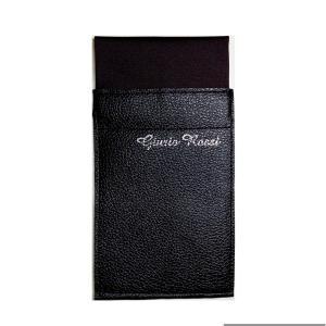 新作!高級レザーが挿しやすい!台紙付きポケットチーフ ジュリオロッシ スクエア型 ソリッド無地柄|tiemarket