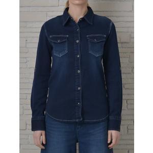 INDIMARK インディマーク カットデニムシャツ インディゴ WT013-3 正規品[小さいサイズ/大きいサイズ/レッドペッパージーンズ/バーゲン/セール/激安/特価]|tifose