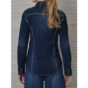 INDIMARK インディマーク カットデニムシャツ インディゴ WT013-3 正規品[小さいサイズ/大きいサイズ/レッドペッパージーンズ/バーゲン/セール/激安/特価]|tifose|02