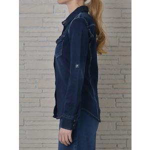 INDIMARK インディマーク カットデニムシャツ インディゴ WT013-3 正規品[小さいサイズ/大きいサイズ/レッドペッパージーンズ/バーゲン/セール/激安/特価]|tifose|03