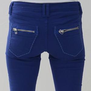 ビビッドカラーブルー青ストレッチスキニーカラーパンツINDIMARK インディマークW009正規品小さいサイズ 大きいサイズ ジーンズ ジーパンレディースファッション|tifose