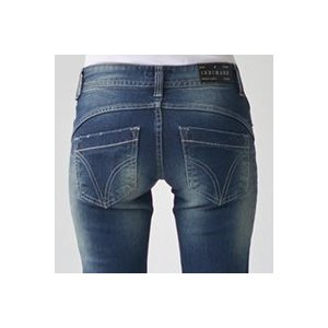 美脚シルエットストレッチストレートジーンズ ジーパン デニムパンツINDIMARK インディマークW011-1正規品 小さいサイズ 大きいサイズ レディース|tifose