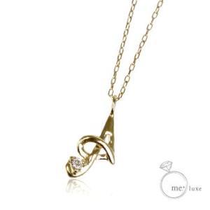 天然ダイヤモンドレディースイニシャルネックレスアルファベットAホワイトピンクゴールド誕生石4月大人気ブランドかわいい可愛いペンダントアクセサリーK10WGPG|tifose