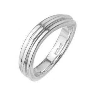 ウェーブラインレディースリング指輪プラチナコーティングメンズ ホワイ|tifose