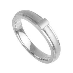 マットラインメンズリング指輪プラチナコーティングメンズ ホワイ|tifose