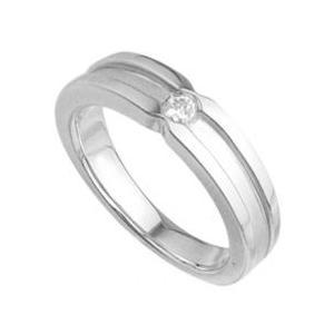 マットラインレディースリング指輪プラチナコーティングメンズ ホワイト|tifose
