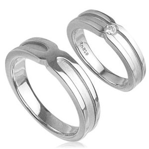 エレガンスマットラインペアリング指輪 シルバーSV925プラチナコーティング レディース メンズ アクセサリー 女性男性 上品 大人 ストーン 石付き ジュエリー|tifose