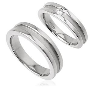 シンプルマットラインペアリング指輪 シルバーSV925プラチナコーティング レディース メンズ アクセサリー 女性男性 人気 上品 大人 ストーン 石付き ジュエリー|tifose