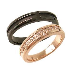 クロスラインペアリング指輪 シルバーSV925プラチナ・ピンクゴールド・ブラックコーティング レディース メンズ アクセサリー 女性男性 ストーン 石付き|tifose