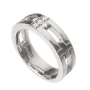 レディースリング 指輪 クロス シルバーSV925 プラチナ ピンクゴールド コーティング 十字架|tifose