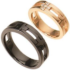 クロス十字架ペアリング指輪 シルバーSV925プラチナ・ピンクゴールド・ブラックコーティング レディース メンズ アクセサリー 女性男性 ストーン 石付き|tifose
