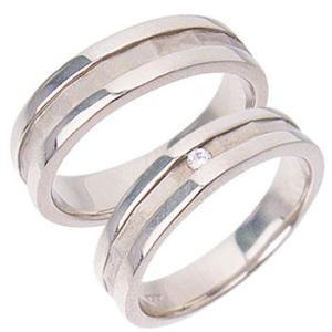 シンプルラインペアリング指輪 シルバーSV925プラチナコーティング レディース メンズ アクセサリー 女性男性セット 大人 記念日婚約指輪|tifose