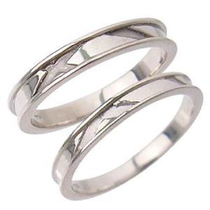 シンプルマッドラインペアリング指輪 シルバーSV925プラチナコーティング レディース メンズ アクセサリー 女性男性セット 大人 記念日婚約指輪|tifose