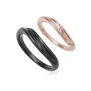 ペアリング天然ダイヤモンドウェーブライン指輪シルバーSV925ロジウムピンクゴールドブラックコーティング レディース メンズ アクセサリー 女性男性 ストーン|tifose