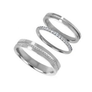 ハーフエタニティセットペアリング指輪 シルバーSV925ロジウムコーティング レディース メンズ アクセサリー 女性男性 上品 大人 ストーン 石付き ジュエリー|tifose
