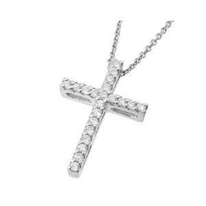 十字架クロスラインシンプルレディースネックレス with me.ウィズミー#95-2236ウィメンズ|tifose