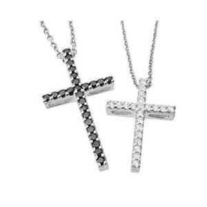 十字架クロスラインシンプルペアネックレス with me.ウィズミー#95-2236-2237メンズ|tifose