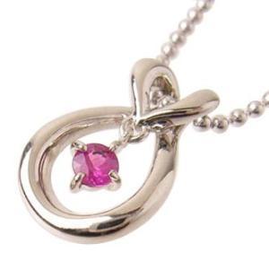 ルビーネックレス7月誕生石プラチナ 誕生日 お祝い 贈り物 ストーン ペンダント ジュエリー アクセサリー 宝石の画像