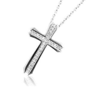 十字架クロスレディースネックレス with me.ウィズミー#95-2512-2513ウィメンズ tifose