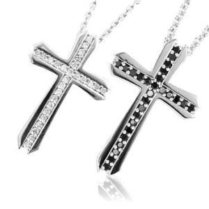 十字架クロスペアネックレス with me.ウィズミー#95-2512-2513メンズバー|tifose
