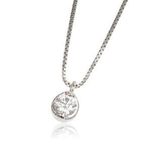 天然ダイヤモンド0.1ct誕生石4月一粒石プラチナレディースネックレスペンダント me.luxeミーリュックス#95-8009ウィメンズ|tifose