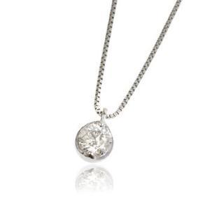 天然ダイヤモンド0.2ct誕生石4月一粒石プラチナレディースネックレスペンダント me.luxeミーリュックス#95-8010ウィメンズ|tifose